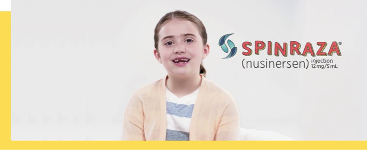 a video that explains how SPINRAZA works by treating an underlying cause of motor neuron loss