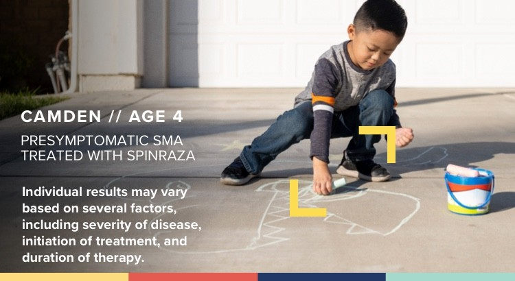 a child with presymptomatic SMA who is being treated with SPINRAZA